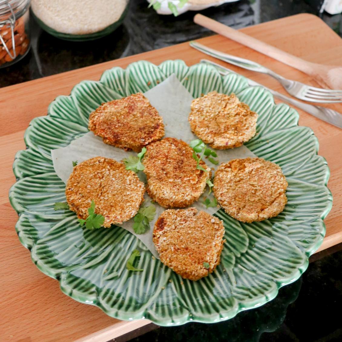 Almond and Sweet Potato Patties