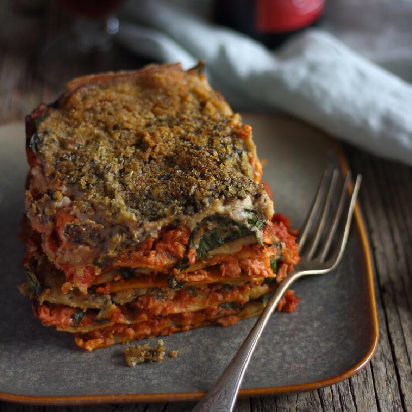 Vegan Velvety & Meaty Lasagna
