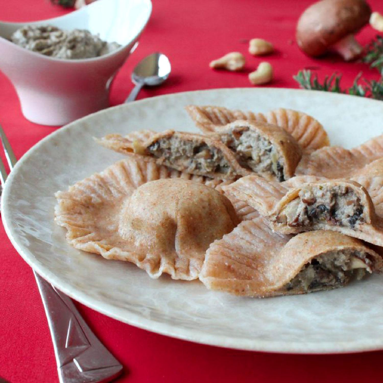 Mushroom, Rosemary, Cashew Raviolis