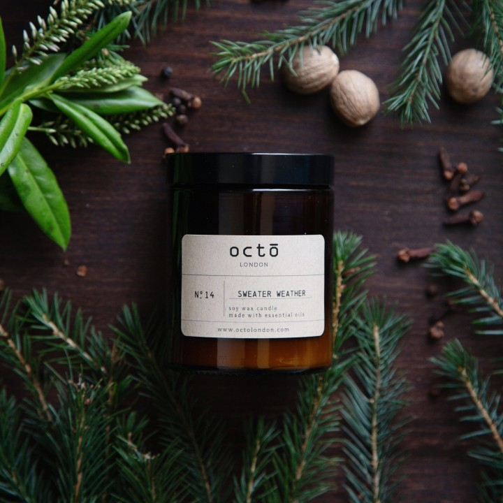 Octō London Handmade Soy Wax Candle (180ml)