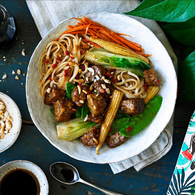 Peanut satay stir-fry