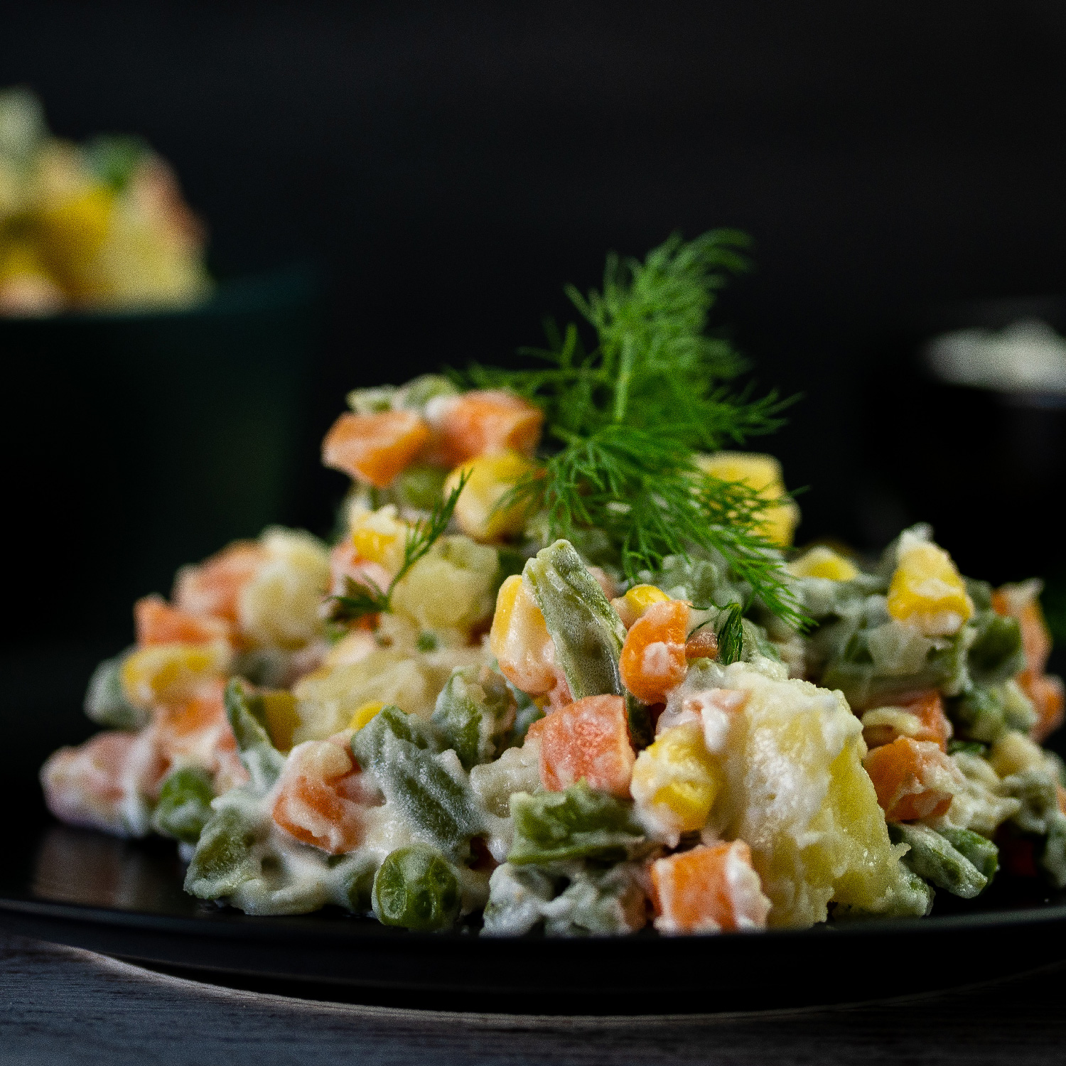 Russian Salad with Vegan Mayo