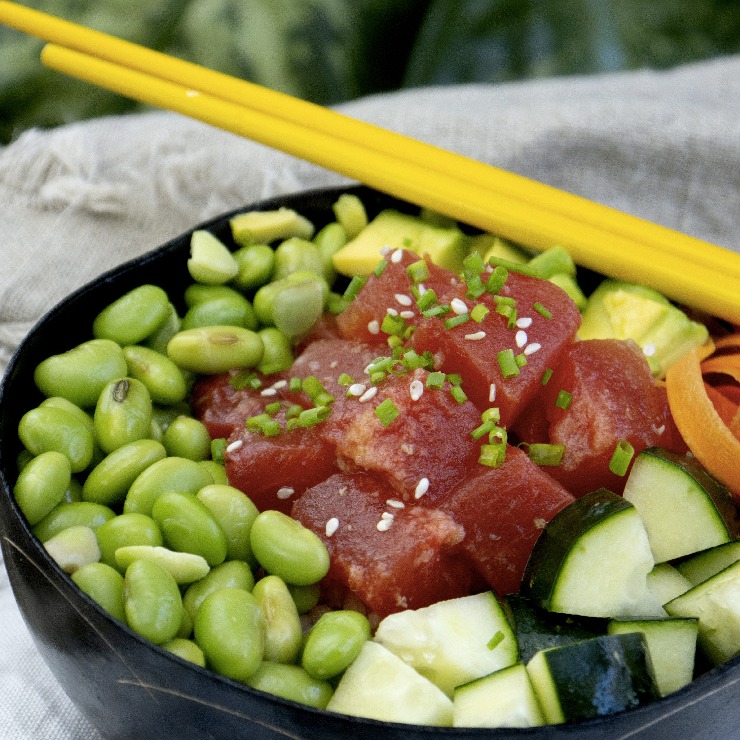 Watermelon fake tuna poke