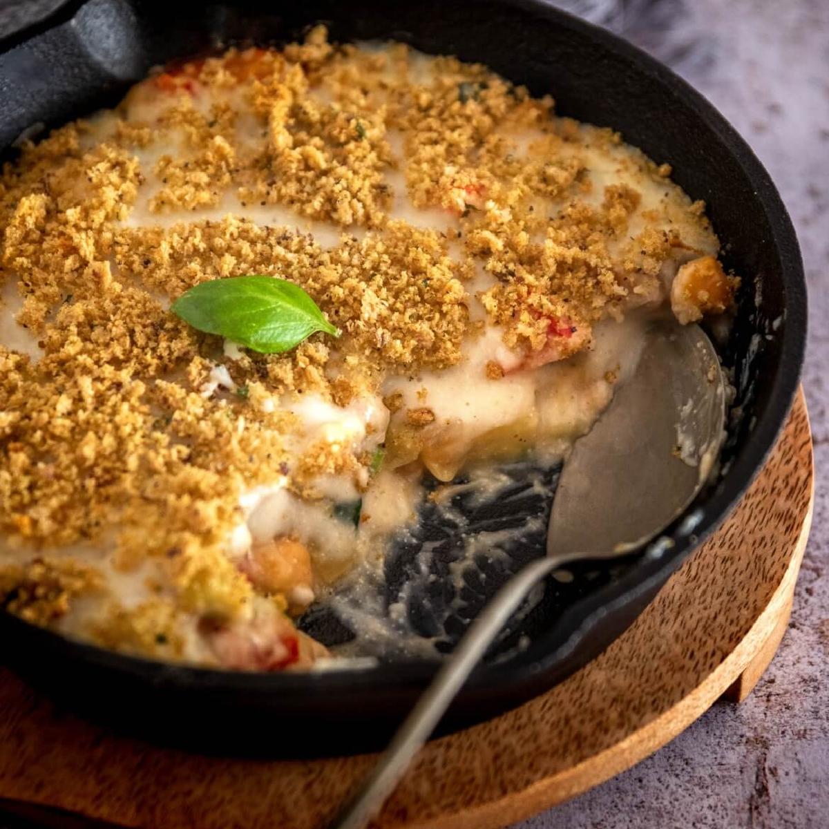 "Zero-waste Veggie bake with rice ""cream"""