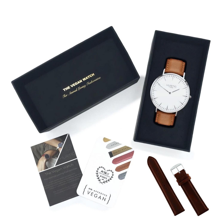 Vegan gift set Mykonos Vegan Leather Watch & Strap