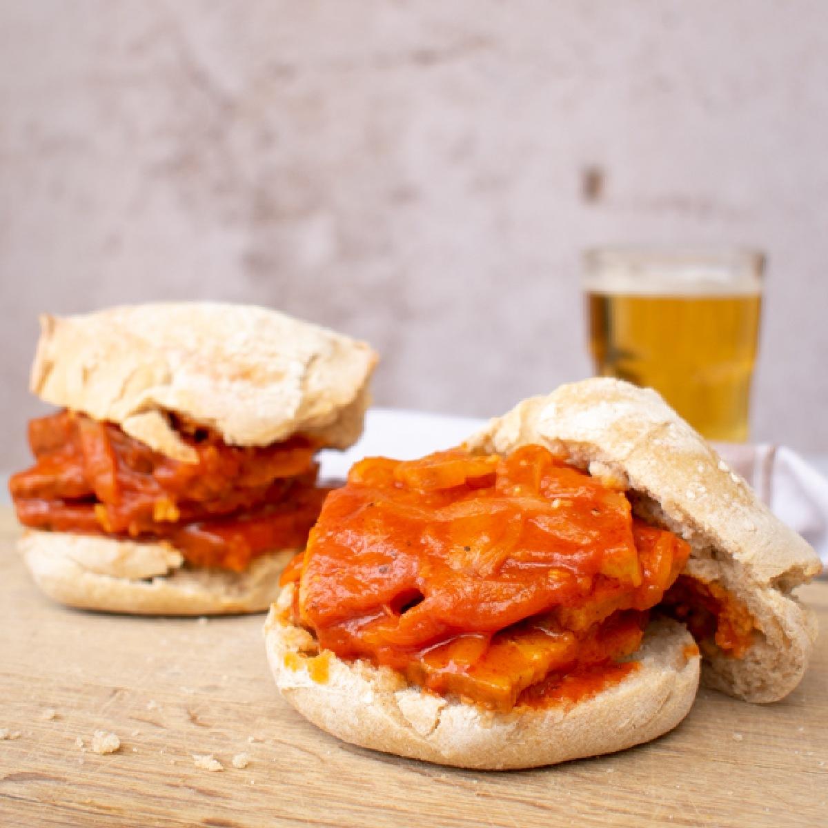 Portuguese Seitanas in bread