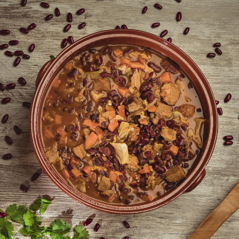 Seitan & Bean Stew (Portuguese Feijoada)
