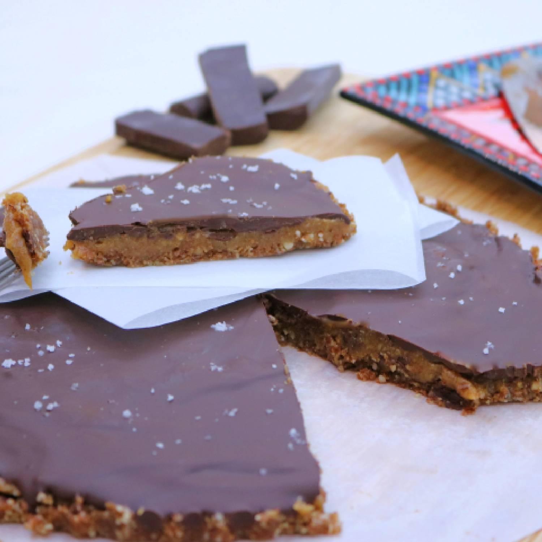 Peanut butter and dark chocolate pie