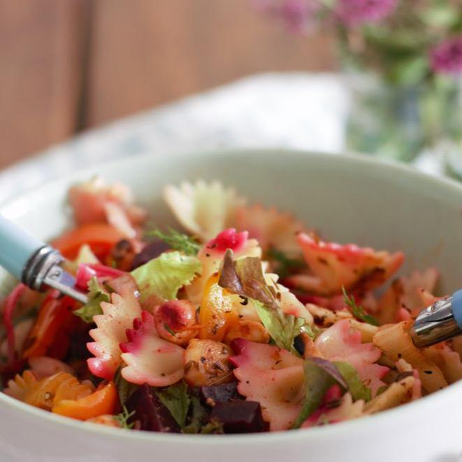 Summer Chickpea Pasta Salad