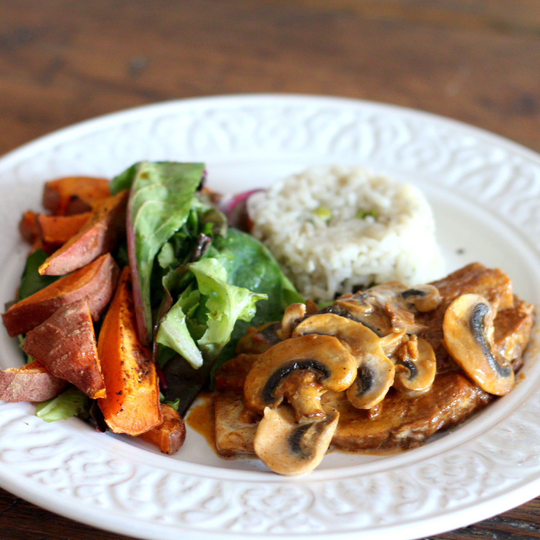 Seitan steaks au champignon