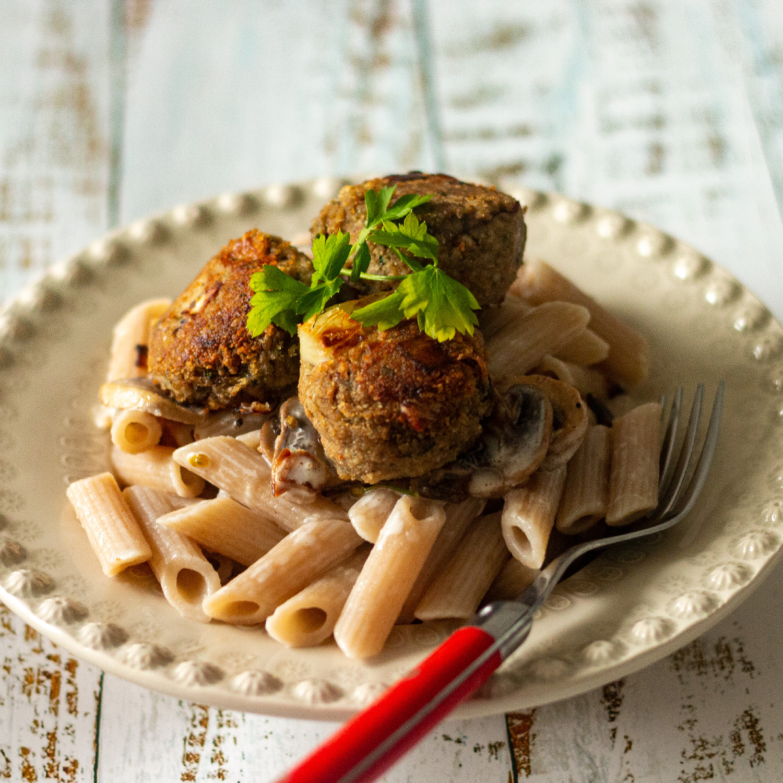 Mushroom meat-less balls